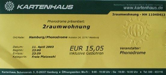 2003.04.11 Phonodrome