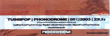 2003.12.05 a Phonodrome