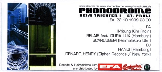 1999.10.23 Phonodrome