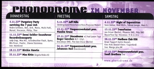 1999.11 Phonodrome