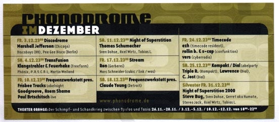 1999.12 Phonodrome