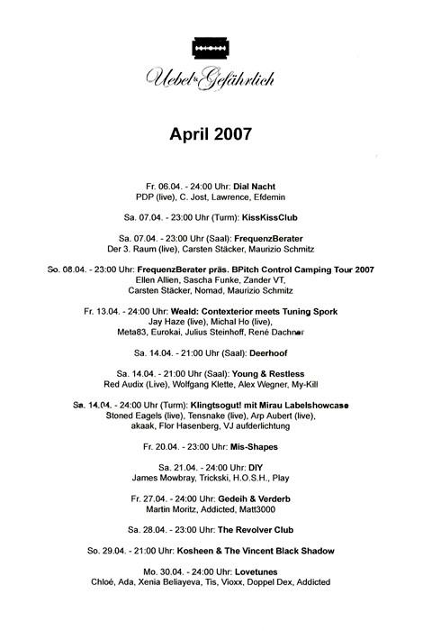 2007.04 Uebel & Gefaehrlich
