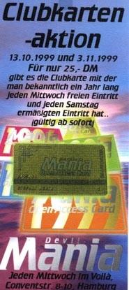 1999 Clubkartenaktion Voila