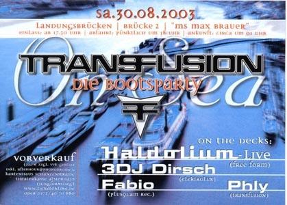 2003.08.30 a Transfusion on Boat