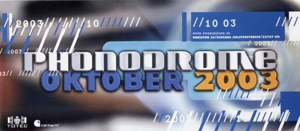 2003.10 a Phonodrome