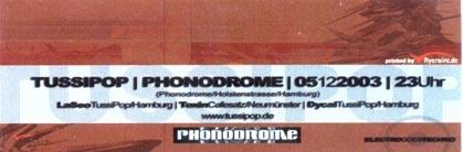 2003.12.05 a Phonodrome
