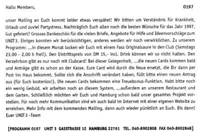 1997.01 Mailing UNIT