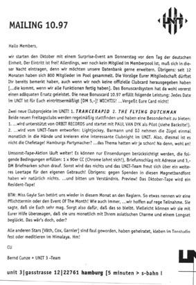 1997.10 Mailing UNIT